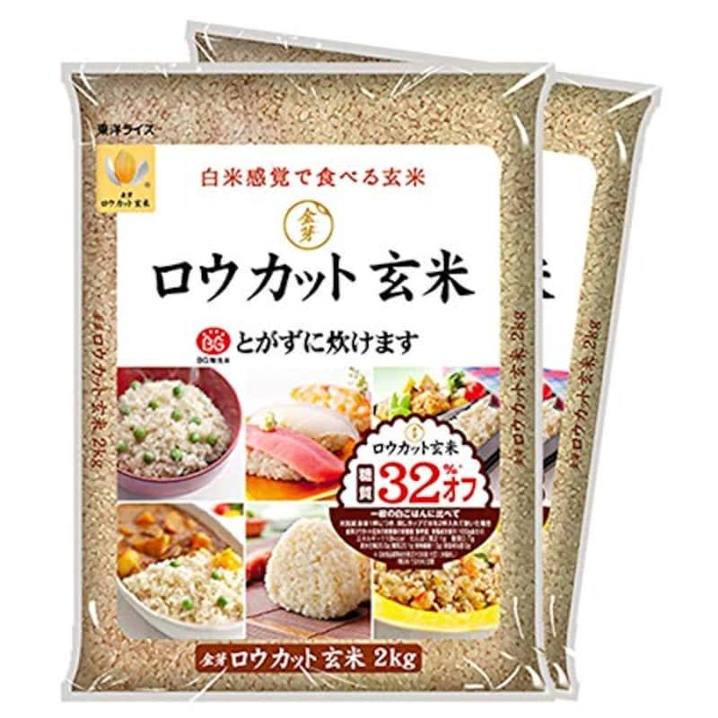 東洋ライス,金芽ロウカット玄米 4kg【2kg×2】