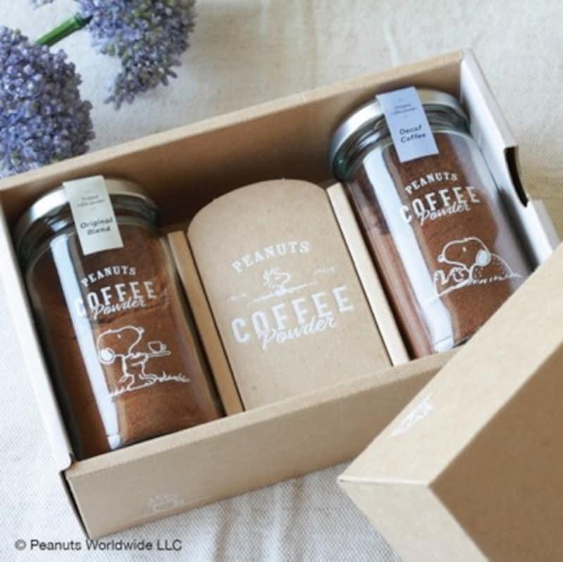 INIC coffee,スヌーピー コーヒーパウダー 選べる2 Bottle Gift Box