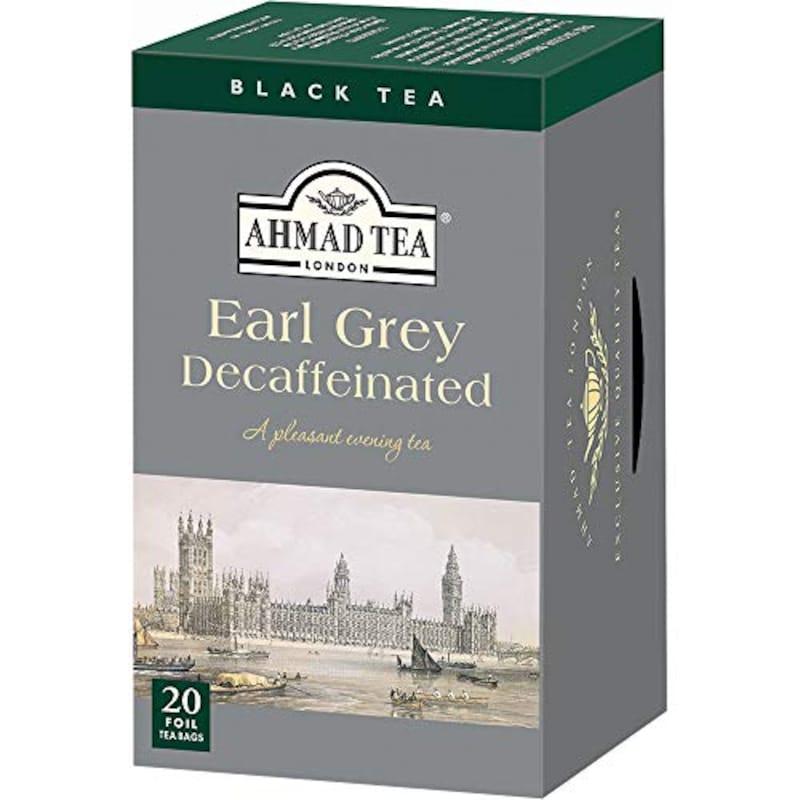 AHMAD TEA,デカフェ アールグレイ カフェインレスティーバッグ 20袋