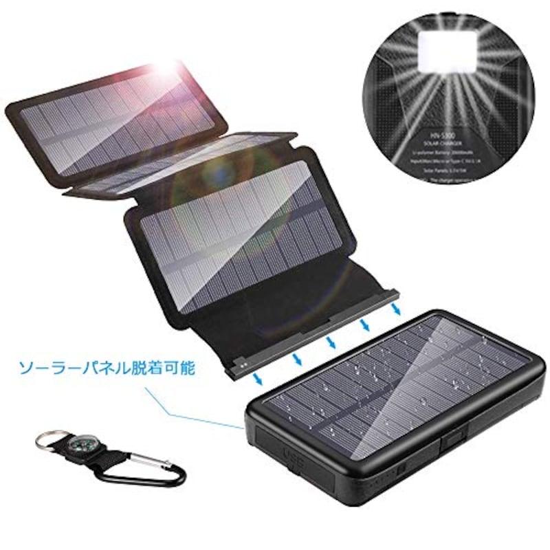 YELOMIN,ソーラーチャージャー モバイルバッテリー,HN-S300