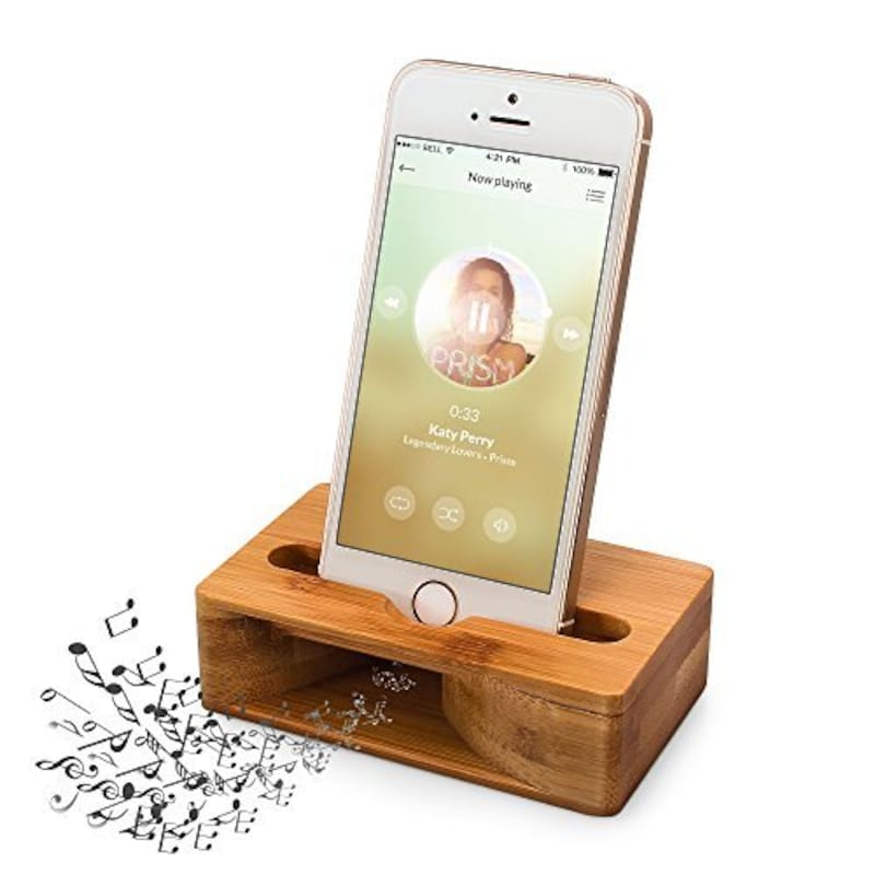 ARCHEER,木製スピーカー iPhoneスタンド スマホスタンド,jQ7GHJAit