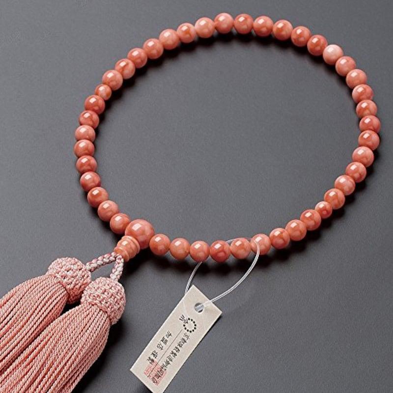 仏壇屋 滝田商店,深海珊瑚 数珠袋付き,jyu-k31