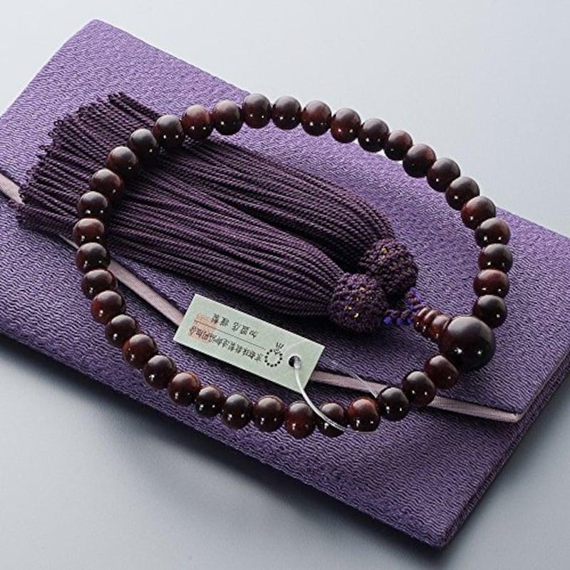 仏壇屋 滝田商店,紫檀 数珠袋付き,jyu-a019