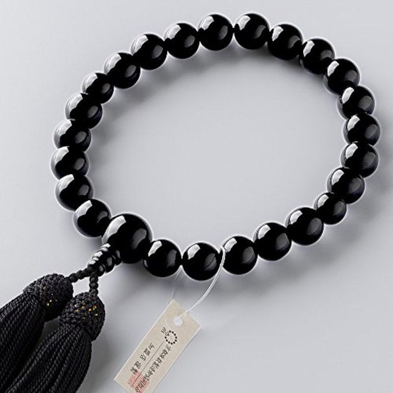 仏壇屋 滝田商店,京念珠 黒オニキス 22玉 数珠袋付き