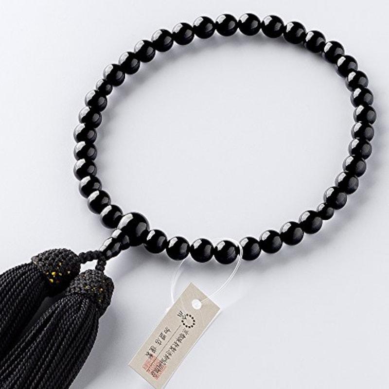 仏壇屋 滝田商店,黒オニキス 数珠袋付き,jyu-k10