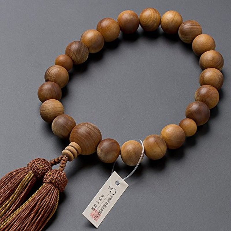 仏壇屋 滝田商店,京念珠 インド白檀 20玉 数珠袋付き,jyu-k20