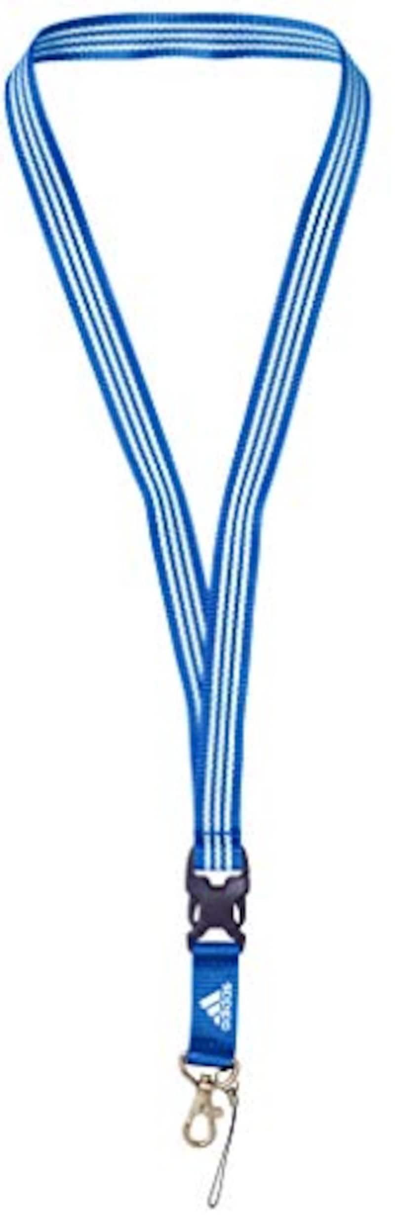adidas(アディダス), 3ストライプス ランヤード ネックストラップ,FYP30-FS9052