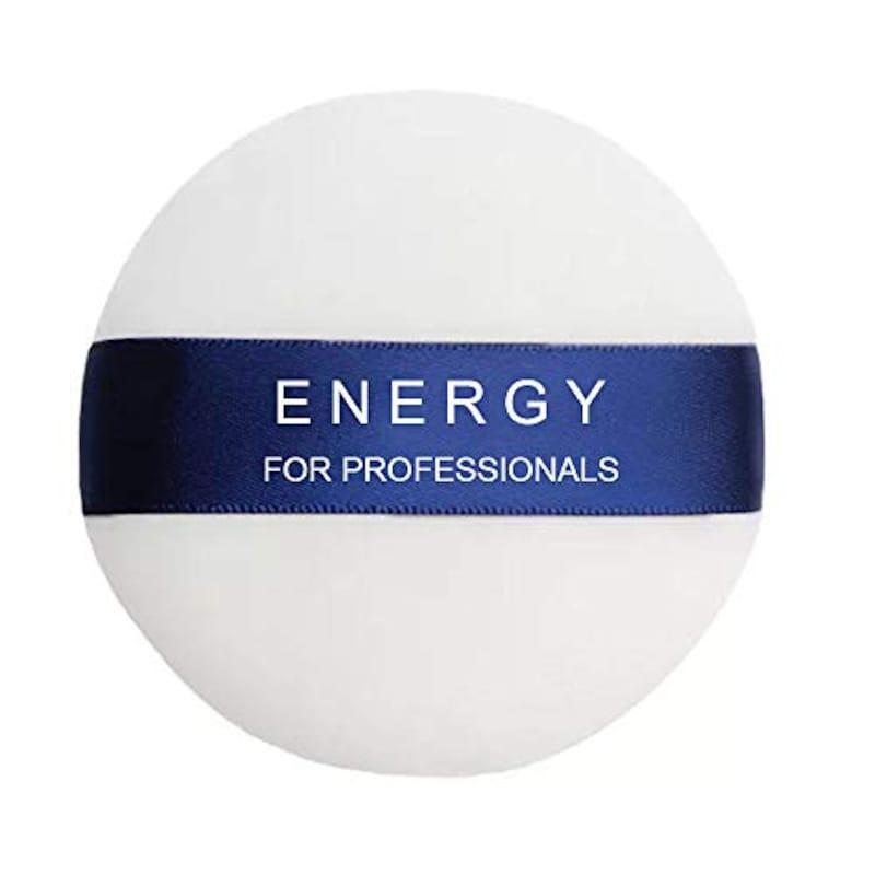 ENERGY,パウダーパフ メイクアップパフ 大きめ