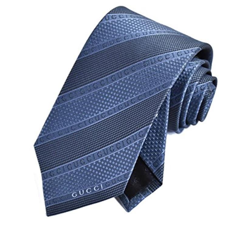 GUCCI(グッチ) ,ネクタイ ブルー 5120