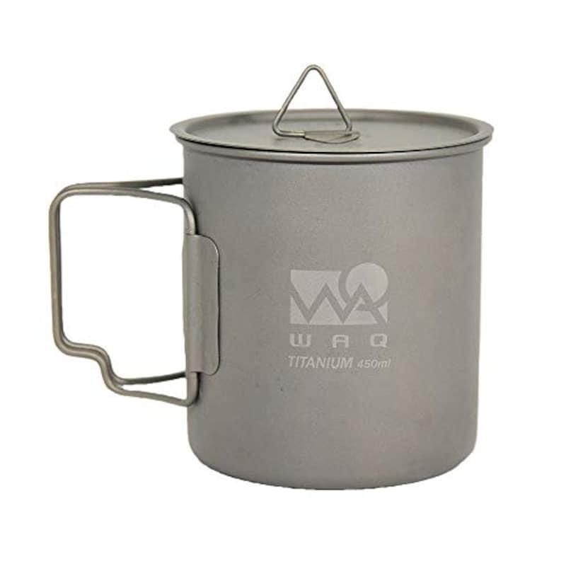 ワック(WAQ),チタンマグカップ 450ml,WAQ-TM1