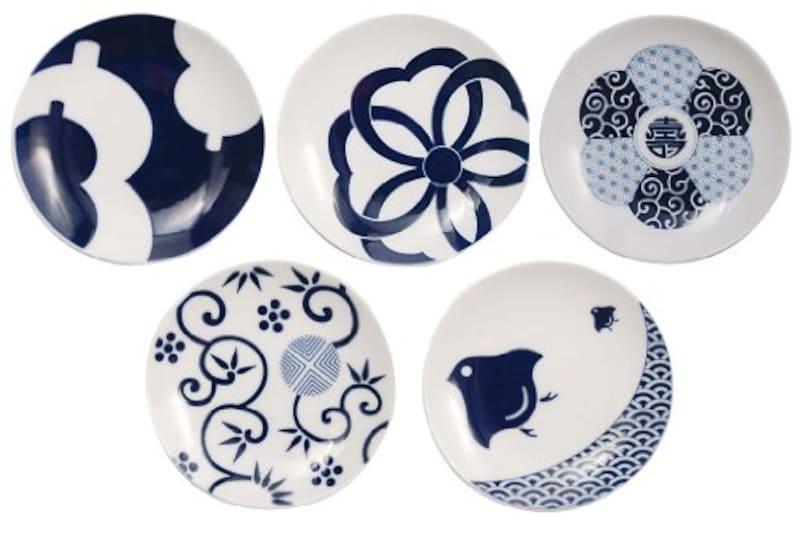KIHARA(キハラ),KOMON 豆皿5枚揃 吉祥柄