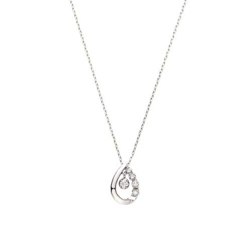 Vendome Aoyama(ヴァンドーム青山),K10ホワイトゴールド ダイヤモンド ベーシック ネックレス,AJBN137440DI