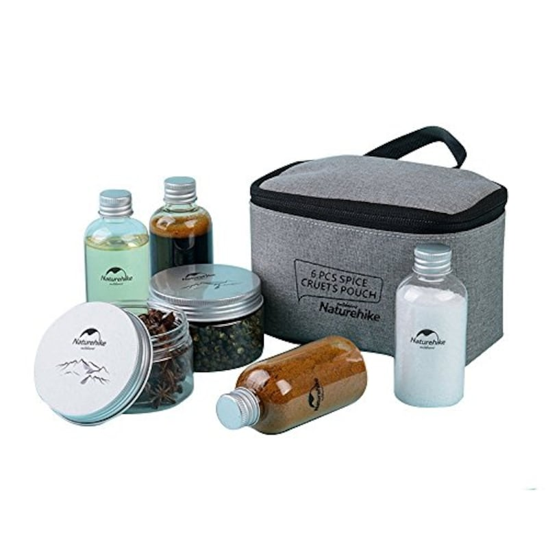 NatureHike(ネイチャーハイク),薬味入れセット 調味料缶6点付きセット