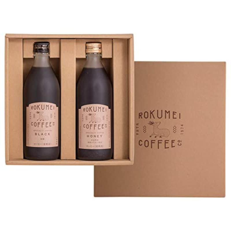ROKUMEI COFFEE CO.,コーヒーギフト カフェベース ブラック&ハニー 2本