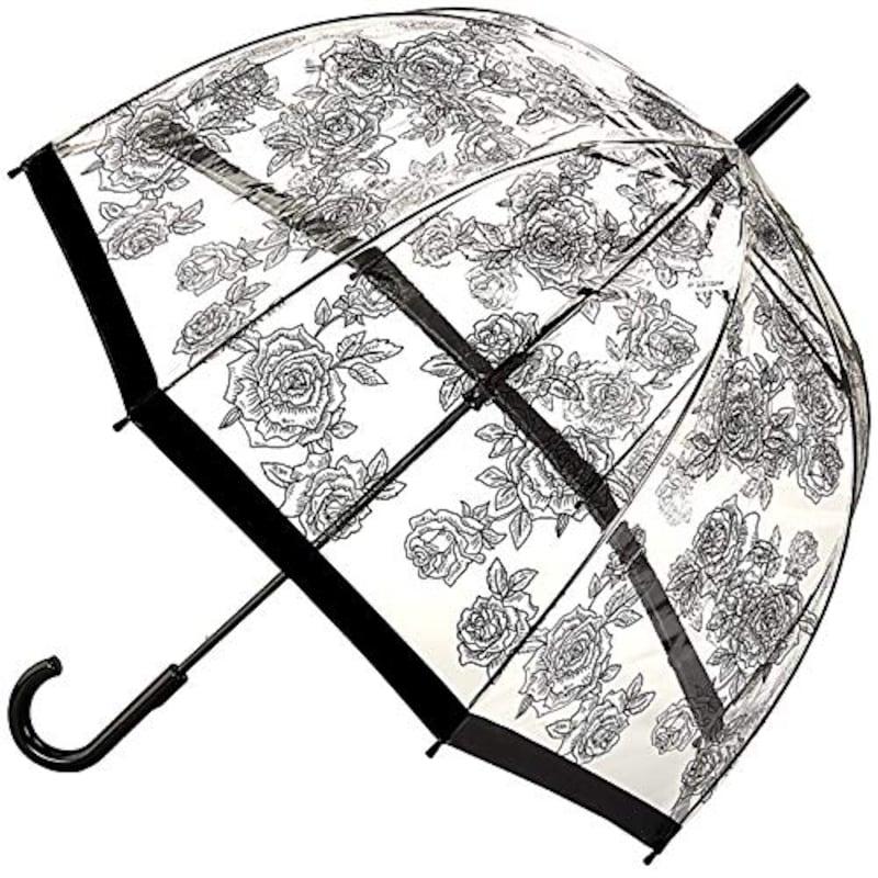 Fulton(フルトン),バードケージ ブラックローズ レディース 長傘