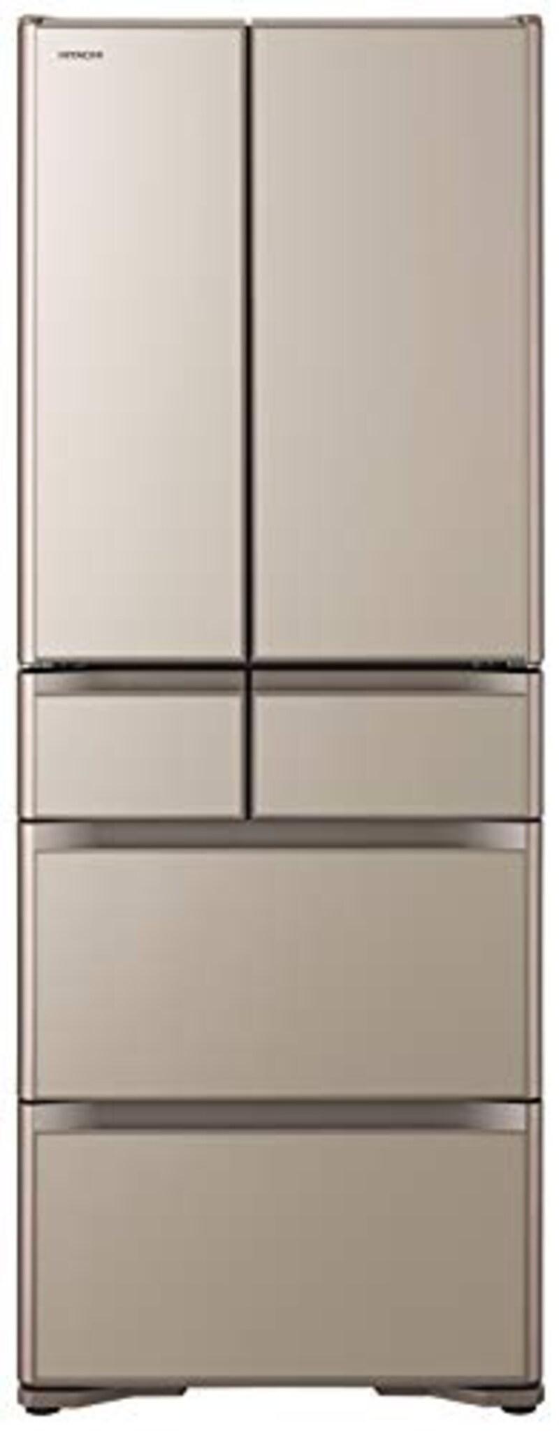 日立(HITACHI),冷蔵庫 475L  プレーンシャンパン,R-XG48K XN