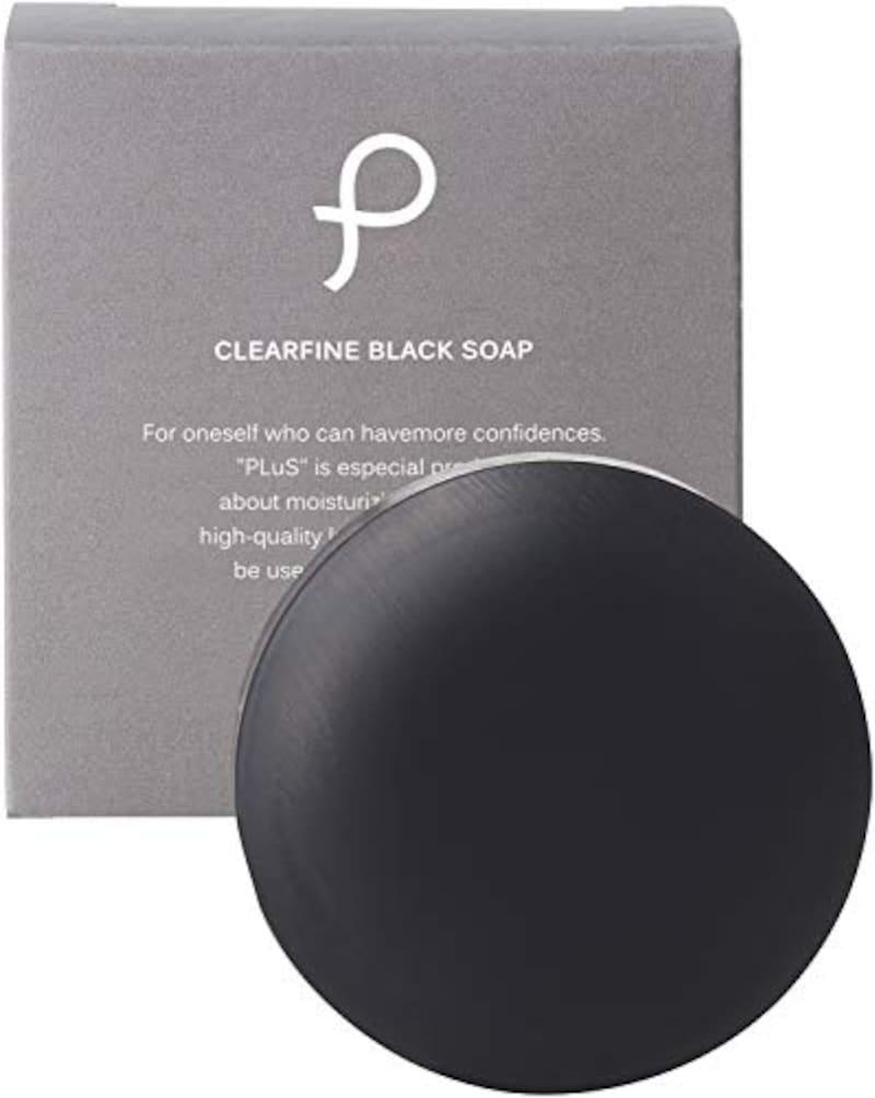 PLuS(プリュ),クリアファイン ブラックソープ 洗顔石鹸