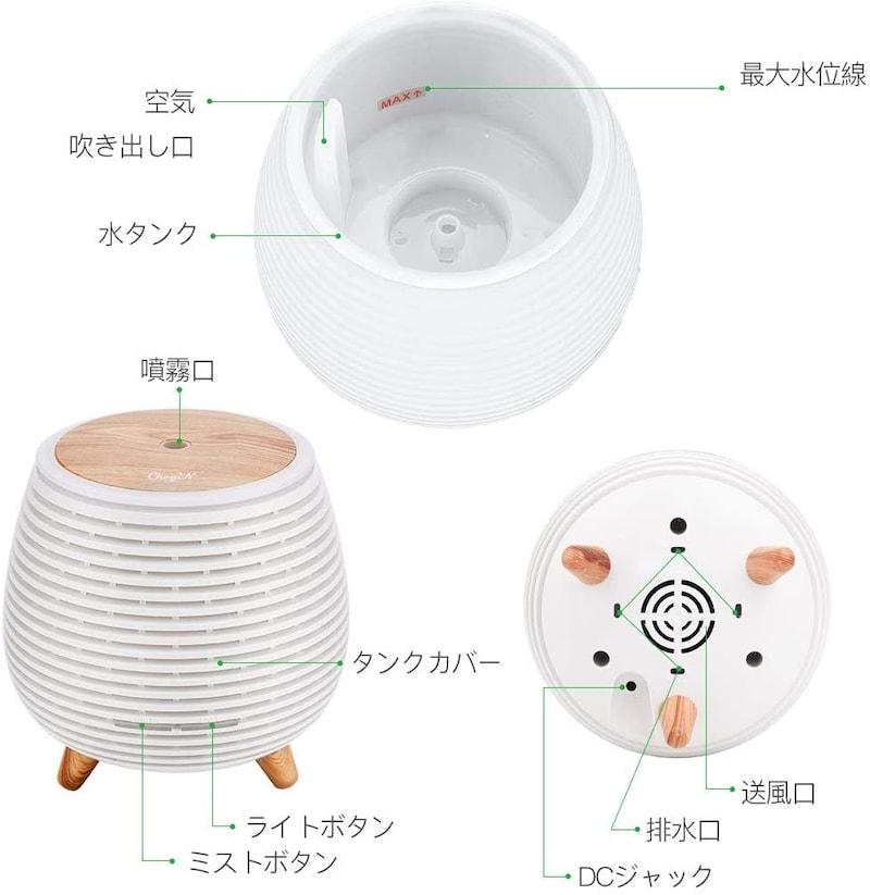 CkeyiN,小型 超音波式 加湿器