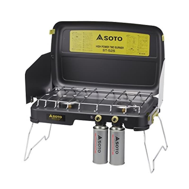 SOTO(ソト),ハイパワーツーバーナー ブラック,ST-525