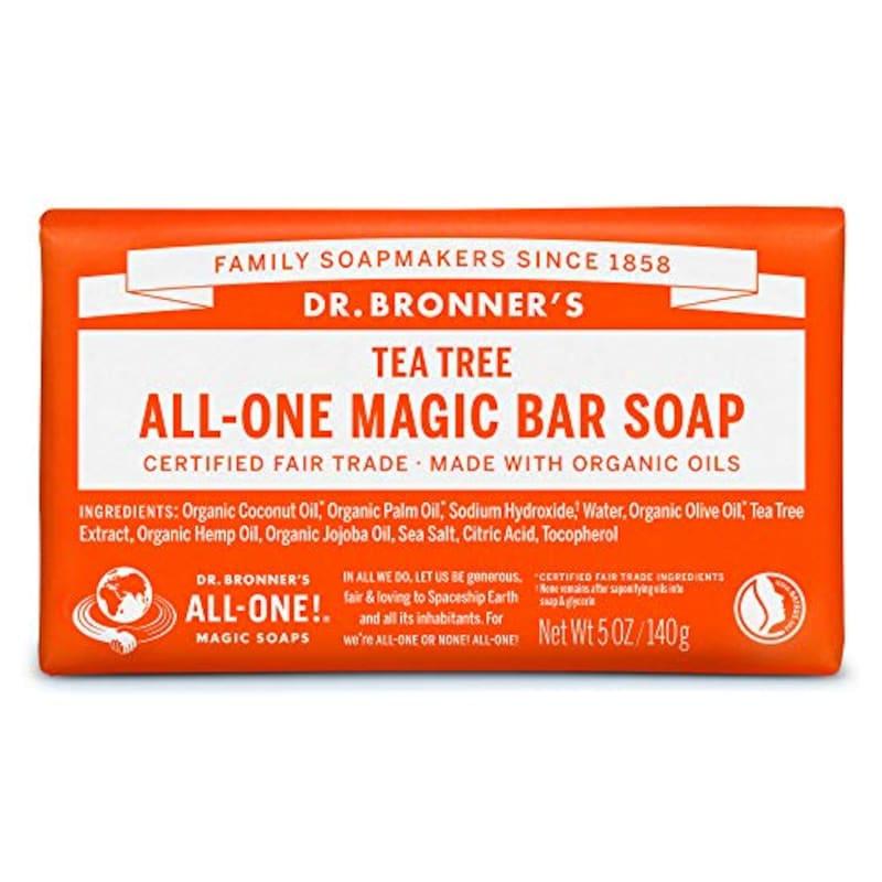 Dr.Bronner's(ドクターブロナー),マジックソープバー ティートゥリー オーガニック固形せっけん