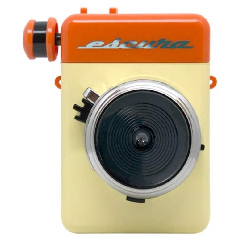 ESCURA ,instant 60s 手回しチェキカメラ FUJIFILM instax mini対応 オレンジ