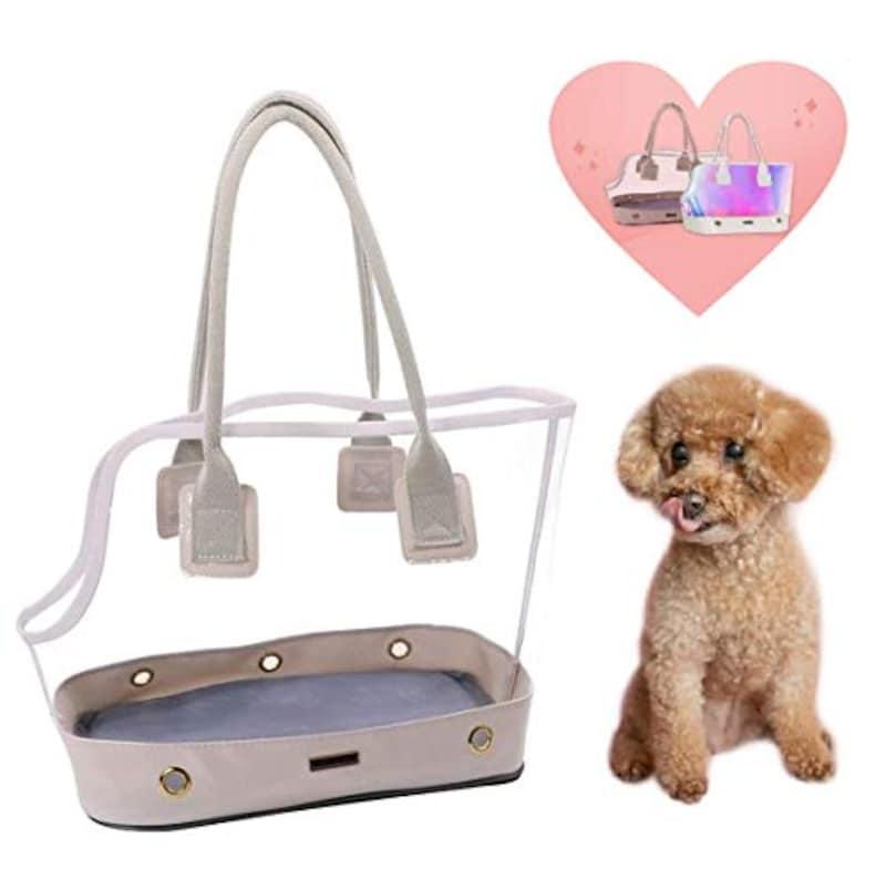 MerCie,犬トートキャリーバッグ 透明