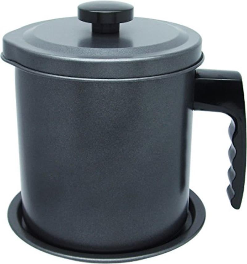 和平フレイズ,オイルポット エコ・ラ・ロッカ 1.5L 受皿付 ふっ素樹脂加工 ,DER-5227