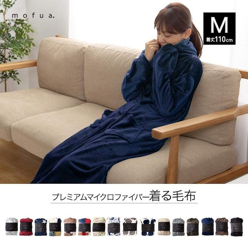 ナイスデイ,mofua(モフア)着る毛布 プレミアムマイクロファイバー,48476407