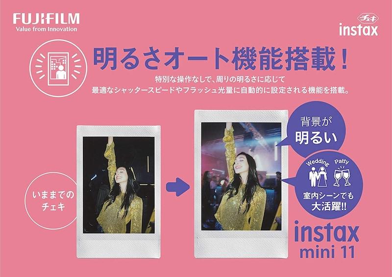 FUJIFILM ,インスタントカメラ チェキ instax mini 11 ライラックパープル INS MINI 11 PURPLE