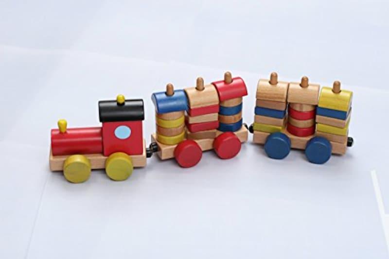 木製おもちゃのだいわ,カラフル機関車