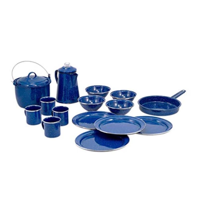 GSI,食器 パイオニア キャンプセット 16ピース ブルー