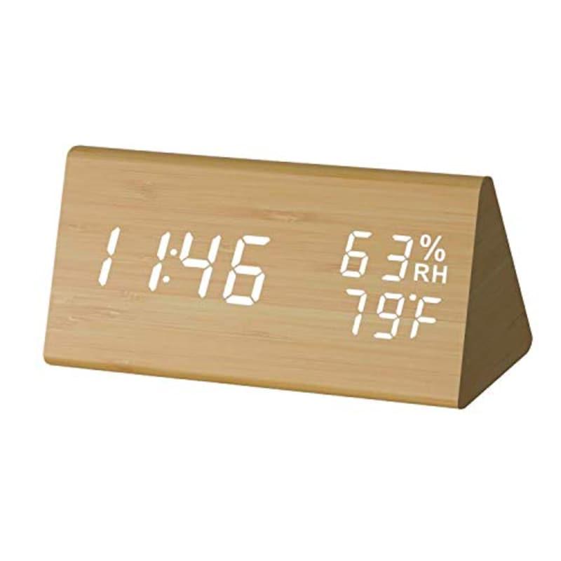 YUUSEI,木製デジタル目覚まし時計