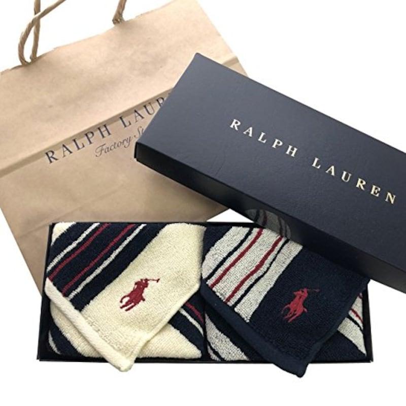 Ralph Lauren(ラルフローレン ),ハンドタオル ハンカチ 2枚セット ギフトBOX付き