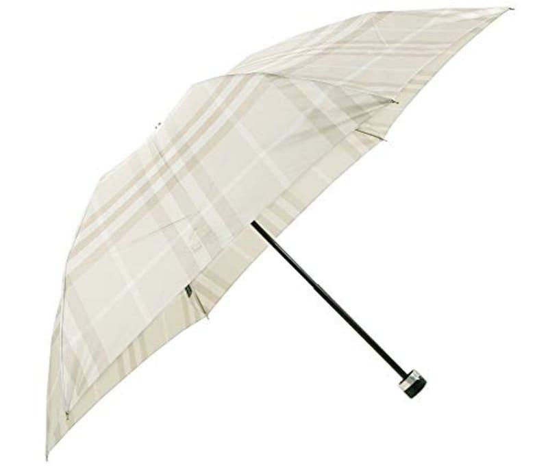 BURBERRY(バーバリー) ,レディース チェック 折りたたみ傘 ライトベージュ