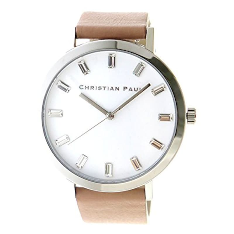 CHRISTIAN PAUL,クオーツ 腕時計 ホワイト,SW-04