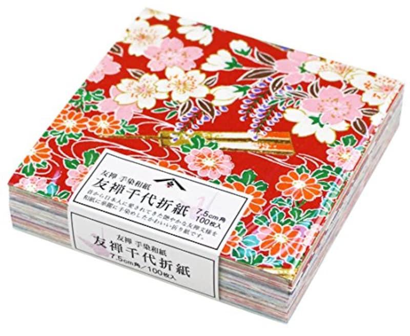 日本製墨書遊,友禅千代折紙,SKW-0500