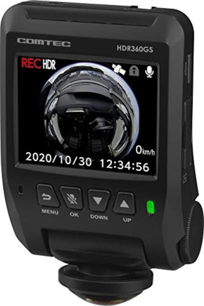 COMTEC(コムテック),360度ドライブレコーダー 日本製,HDR360GS