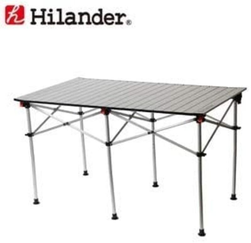 ハイランダー(Hilander),アルミロールテーブル 124×70cm