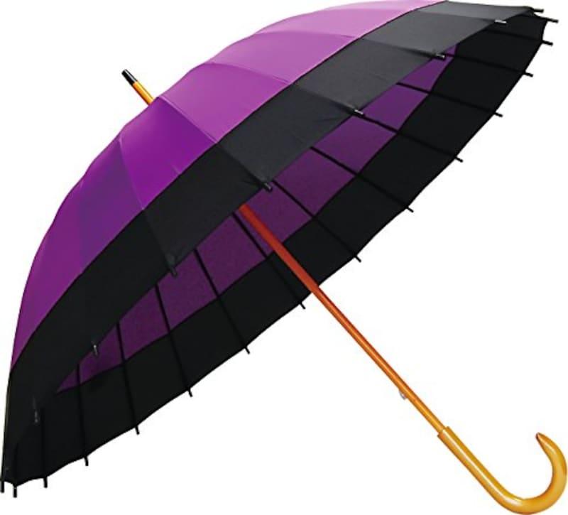 Santos(サントス),二十四本骨蛇の目風和傘 紫
