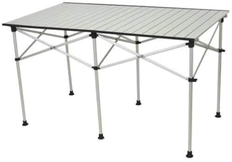 クイックキャンプ,折りたたみアルミロールテーブル 123×70cm,ALRT-001