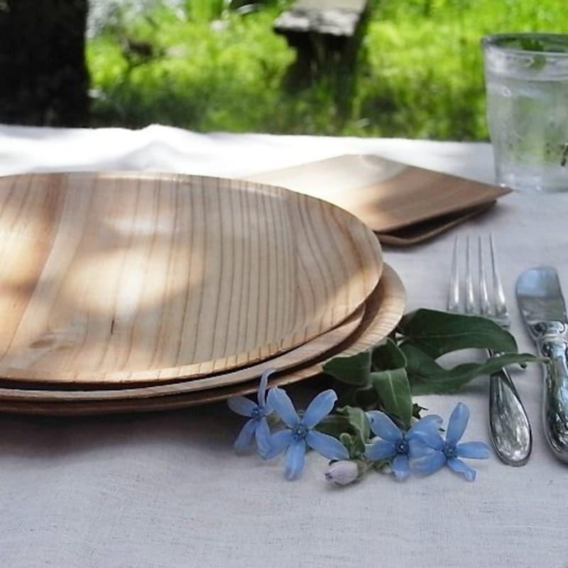 KIZARA,木皿のような紙皿