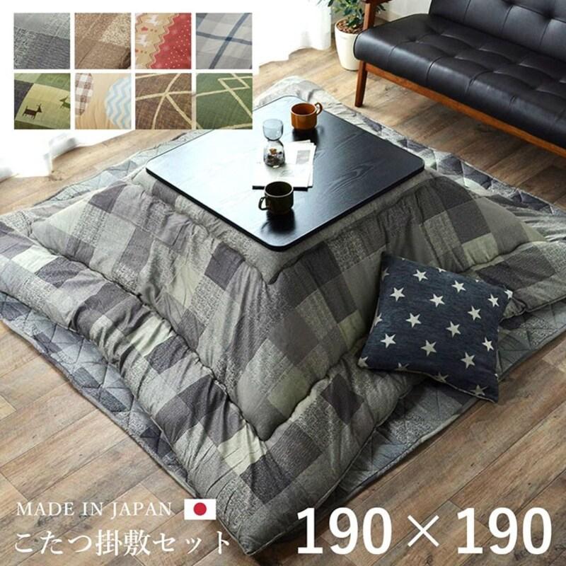 イケヒコ,日本製こたつ掛敷布団セット,5169200