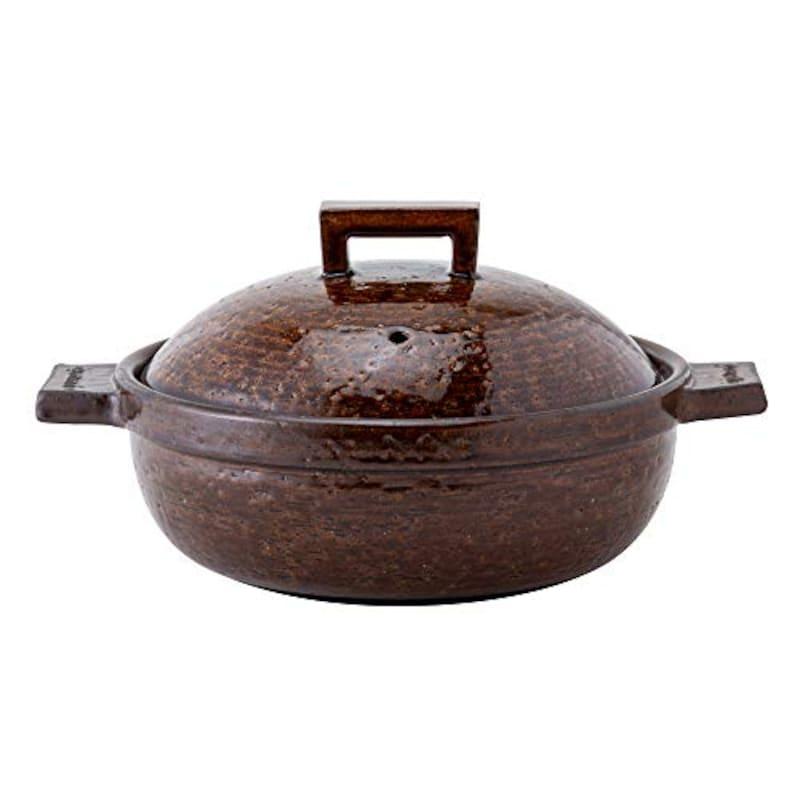 長谷製陶(Nagatani Seitou),キャセロール 土鍋 (ふたり用) ,CK-06