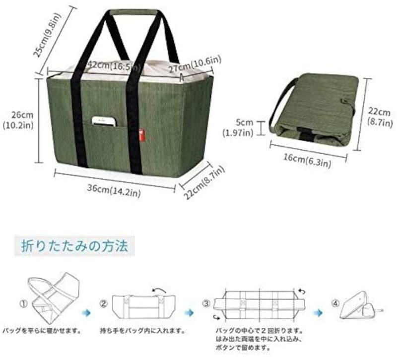 Jiko,折りたたみ保冷バッグ