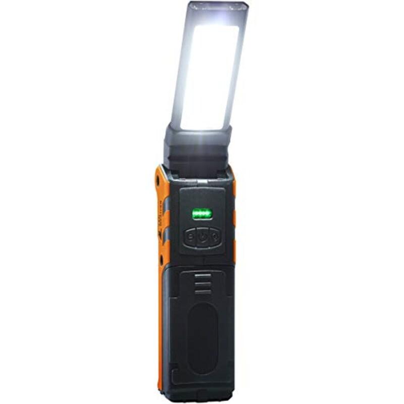 LAD WEATHER(ラドウェザー), LEDライト ワークライト 2WAY 折り畳み式 充電式バッテリー led 作業灯