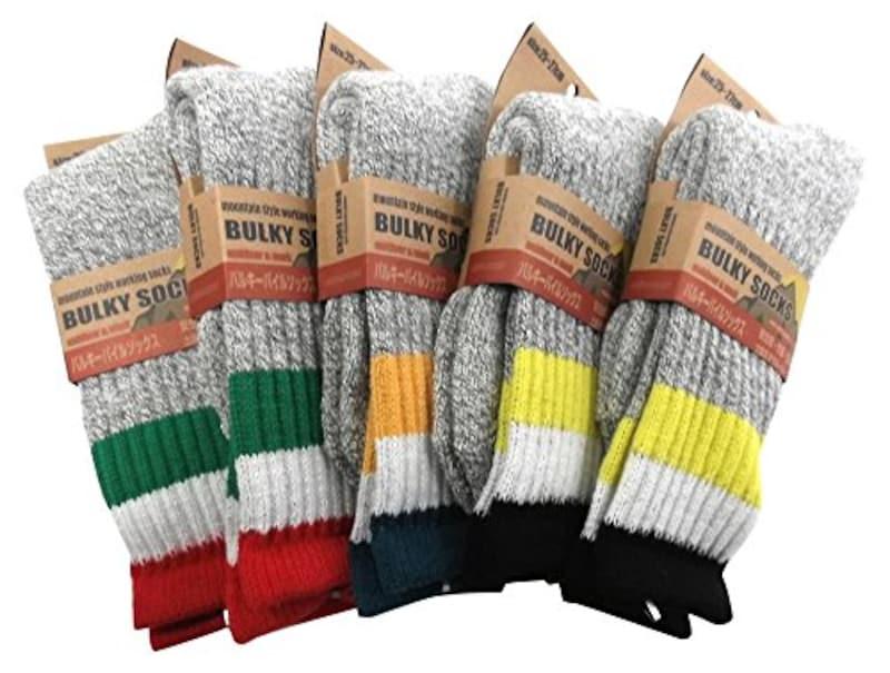 靴下コレクション,バルキーパイルソックス 5足セット