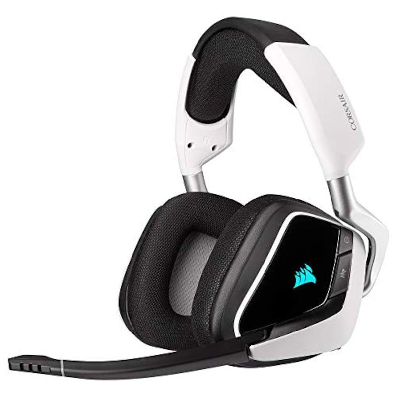 CORSAIR(コルセア),VOID RGB ELITE Wireless White ワイヤレスゲーミングヘッドセット,CA-9011202-AP