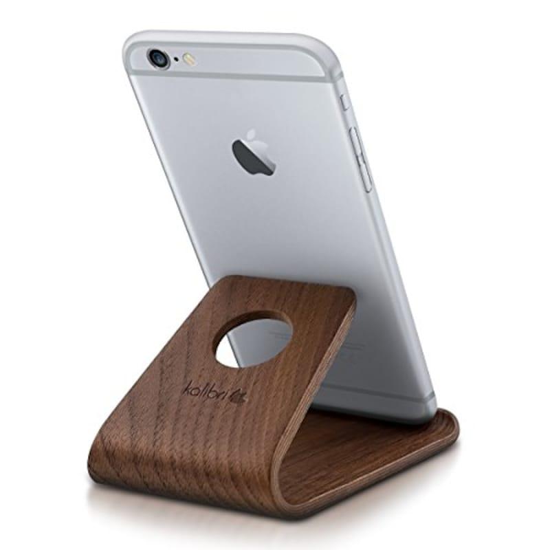 kalibri,スマホホルダー 卓上スタンド 木製