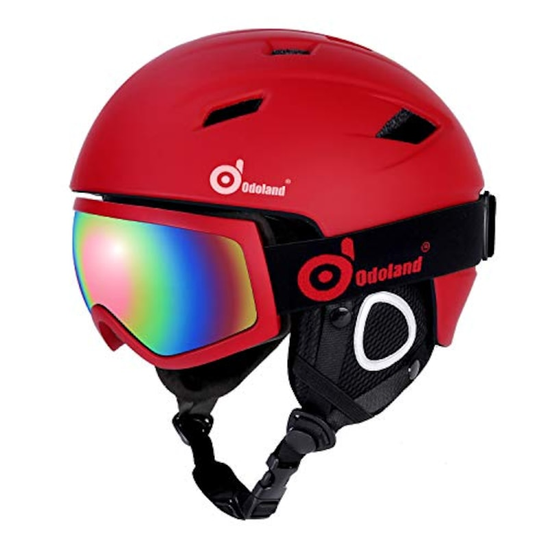 Odoland ,スキーヘルメットセット ゴーグル付き,SP0392HXS+SP0506H