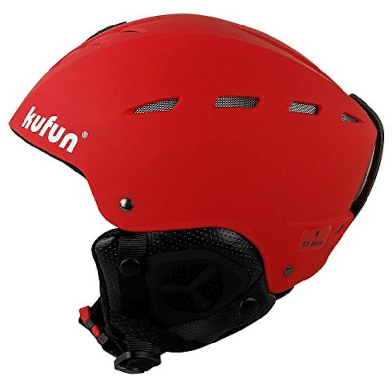 kufun,スノボー ヘルメット 調節可能 レディース,EN1077